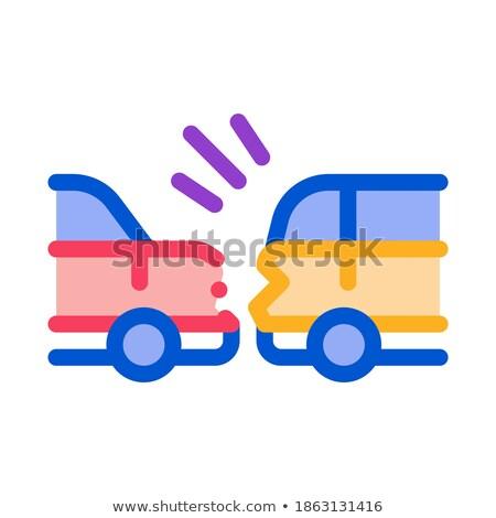 Gevaarlijk afstand auto icon vector schets Stockfoto © pikepicture