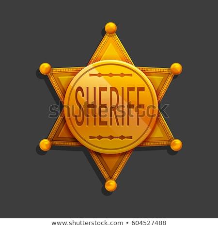 Rajz arany csillag sheriff terv törvény Stock fotó © nezezon