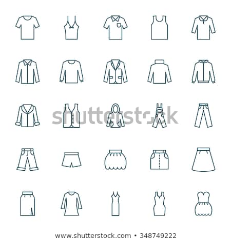 Pantolon ikon vektör örnek imzalamak Stok fotoğraf © pikepicture