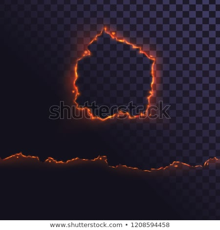 Set of burned torn holes in paper on white Stock photo © evgeny89