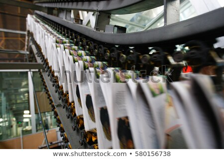 Print newspaper in printing house Stock photo © jossdiim