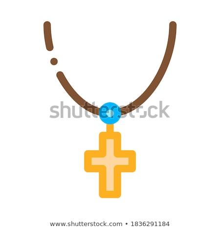 Hristiyan çapraz boyun ikon vektör Stok fotoğraf © pikepicture