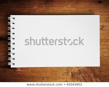 Note book horizontal on teak wood Stock photo © nuttakit