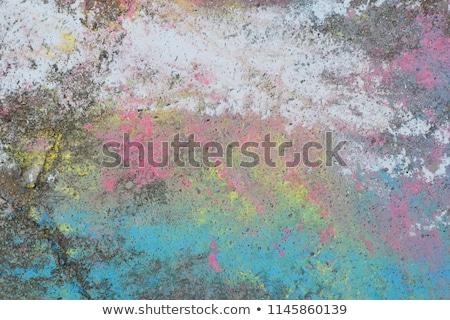 Stockfoto: White Blue Gray Pavement Sidewalk