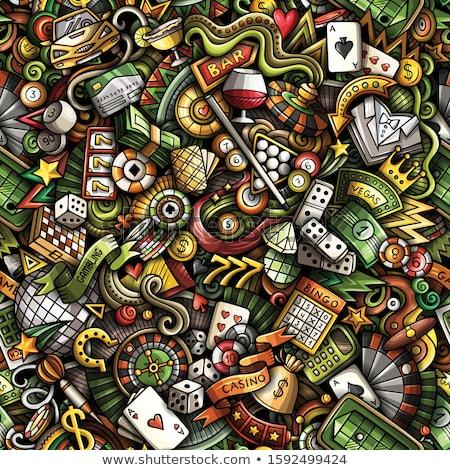 Foto stock: Cassino · cartas · de · jogar · roleta · batatas · fritas · coração