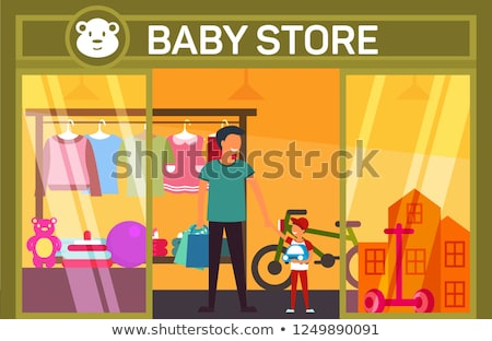 Father and mother with son with toy in shop stock photo © Paha_L