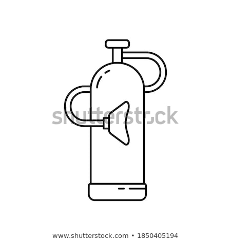 portable oxygen cylinder for medical use stock photo © rcarner
