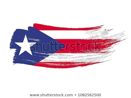 グランジ フラグ プエルトリコ 古い ヴィンテージ グランジテクスチャ ストックフォト © HypnoCreative