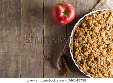 Tarte aux pommes menthe pièce plaque fruits dessert Photo stock © Rebirth3d