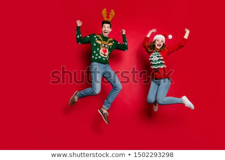 fly jump man. winter. Stock photo © Paha_L