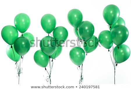 green balloon isolated on white Stock photo © artjazz