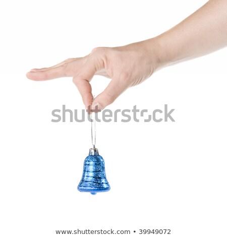 kol · mavi · Noel · çan · yalıtılmış - stok fotoğraf © artjazz