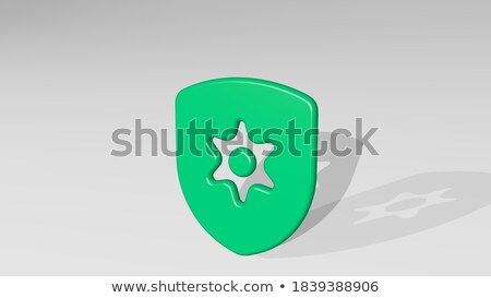 3D and 2D Shields Stock photo © fenton