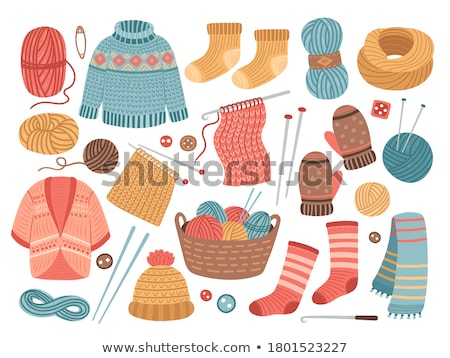 collection of wool knitting on white background Stock photo © inxti