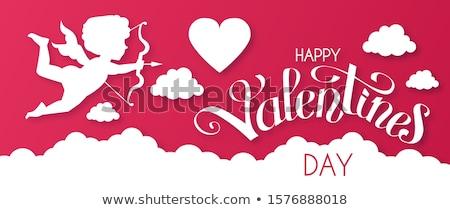 Paper Cupid Stock photo © vectomart