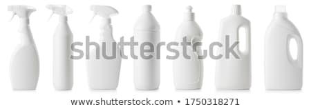 Plastic bottle of dishwashing liquid on white background Stock photo © ozaiachin