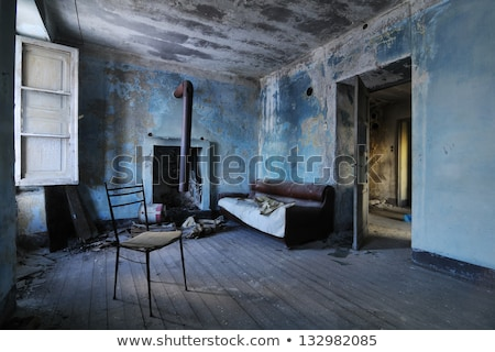 Stock photo: chair in decayed room
