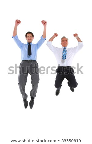 two businessmen jumping Stock photo © ambro