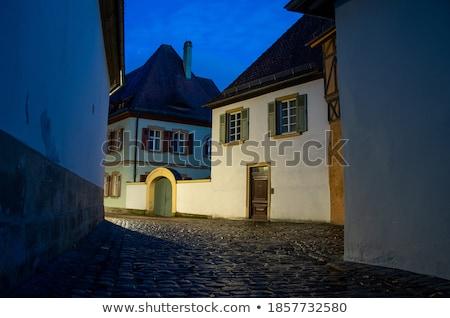historic city in germany with narrow lane Stock photo © gewoldi
