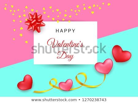 Валентин день карт два сердцах Сток-фото © carodi