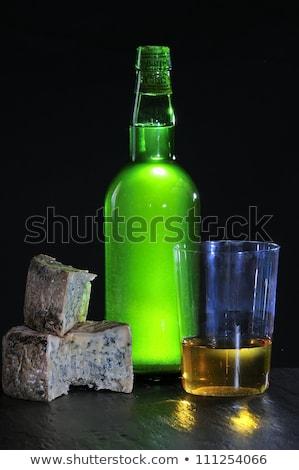 Foto stock: Sidra · queso · alimentos · azul · dulce · turísticos