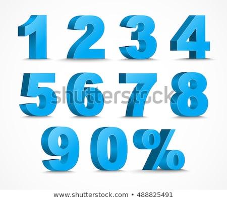 Kék százalék felirat fehér üzlet piac Stock fotó © Ciklamen