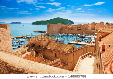 Roof tops of Dubrovnik old city Stock photo © danielgilbey