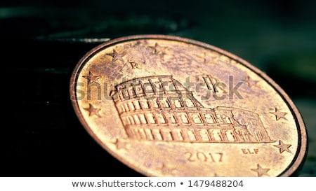 öt · Euro · cent · érme · közelkép · izolált - stock fotó © ruslanomega