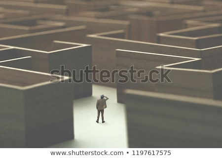 потеряли находить человека бизнеса стены Сток-фото © Sniperz