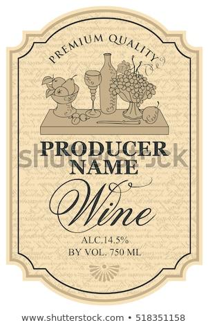 üvegek bor szilva asztal levél zöld Stock fotó © inaquim