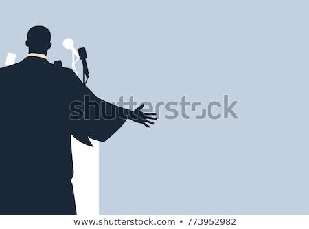 Rei texto ilustração palavra ouro governante Foto stock © lenm