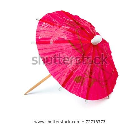 Red juice with umbrella stock photo © broker