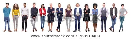 бизнес-команды человека белый деловые люди говорить Сток-фото © posterize