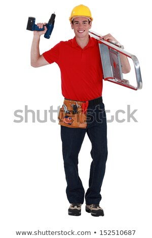handyman carrying ladder to next job stock photo © photography33