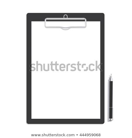 Siyah boş kağıt kalem top arka plan Stok fotoğraf © vankad