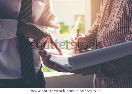 foreman consulting blueprints Stock photo © photography33