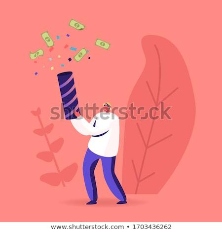 Lövöldözés pénz afrikai nő Euro bankjegy Stock fotó © iko