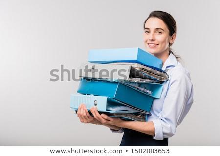 donna · file · lavoro · avvocato · informazioni - foto d'archivio © stockyimages