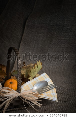 Stock photo: Blank thanksgiving banquet invitation