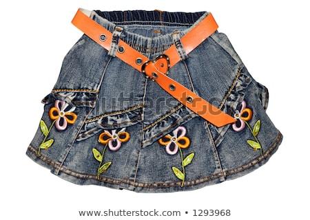 nice girl in jeans mini skirt stock photo © acidgrey