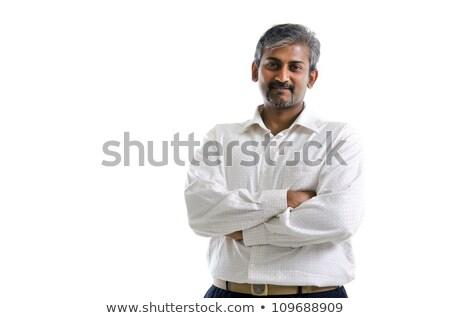 Di bell'aspetto 30s indian maschio braccia bianco Foto d'archivio © szefei