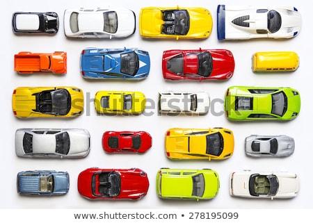 kolor · zabawki · samochodu · odizolowany · biały · czerwony - zdjęcia stock © supertrooper