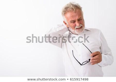 Foto d'archivio: Ritratto · stanco · imprenditore · bianco · lavoro · medici