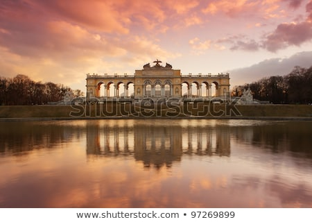 gloriette schonbrunn in vienna at sunset stock photo © andreykr