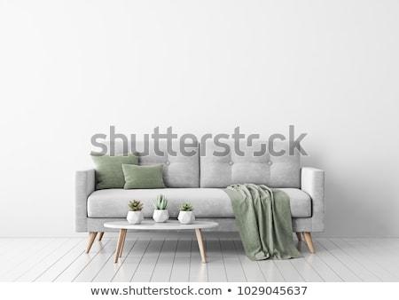 nappali · modern · bútor · 3d · render · ház · ablak - stock fotó © ciklamen