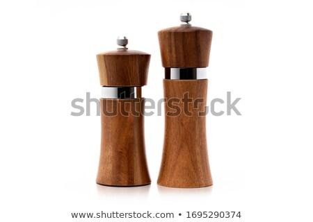 木製 コショウひき 白 木材 料理 シード ストックフォト © jirkaejc