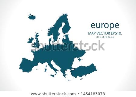 térkép · Európa · kék · fehér · földgömb · fény - stock fotó © iqoncept