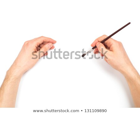 Human hands with brush painting something stock photo © vlad_star