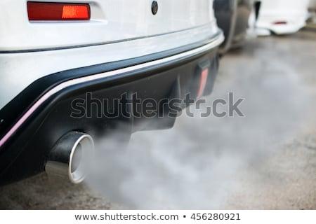 Sportok kipufogó cső autó fehér sebesség Stock fotó © homydesign