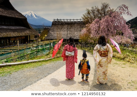 Little boy in kimono with sword Stock photo © pekour